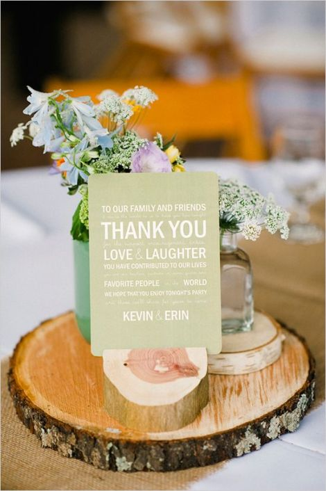 Rustic centerpiece inspiration