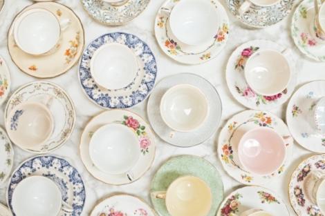 vintage china teacups