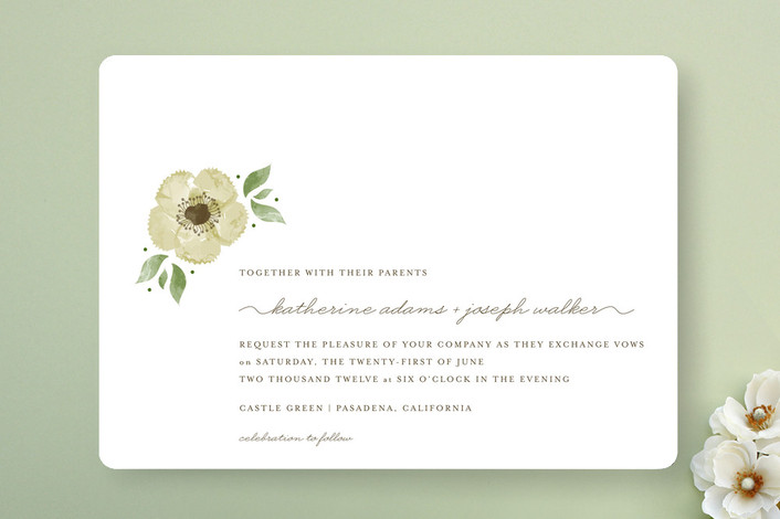 Minted Invitation