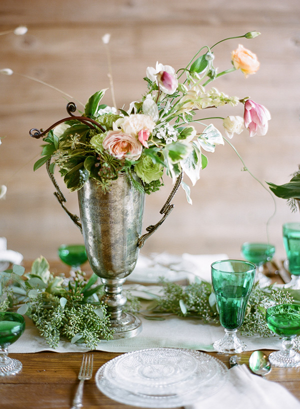 Vintage party rentals centerpieces pretty little