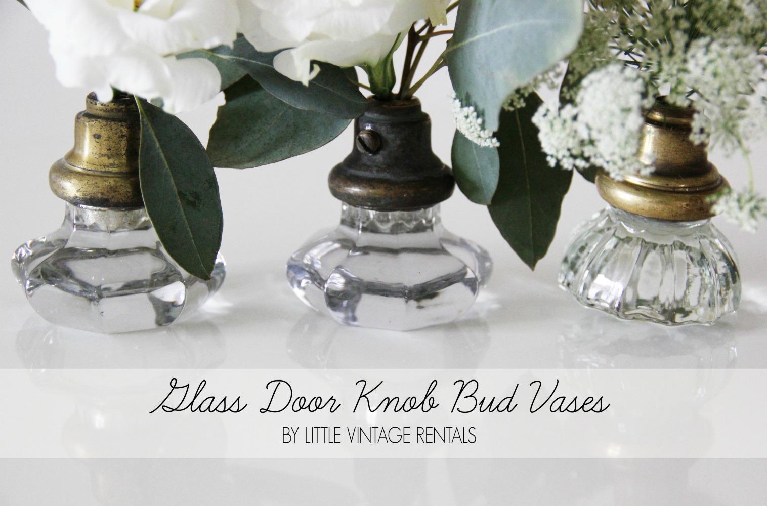 Diy glass door knob bud vases featured on wedding chicks pretty glass door knob diy by mandy forlenza sticos little vintage rentals nyc reviewsmspy
