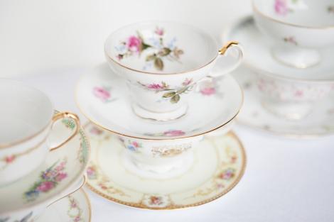 Vintage Tea Cup Rental NYC - Fiona Melder Photography