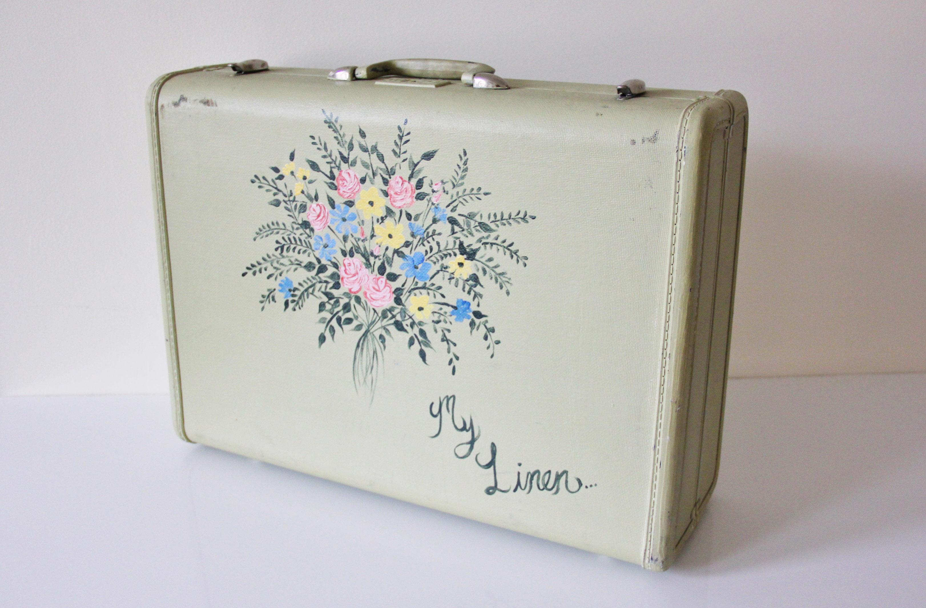 flower suitcase