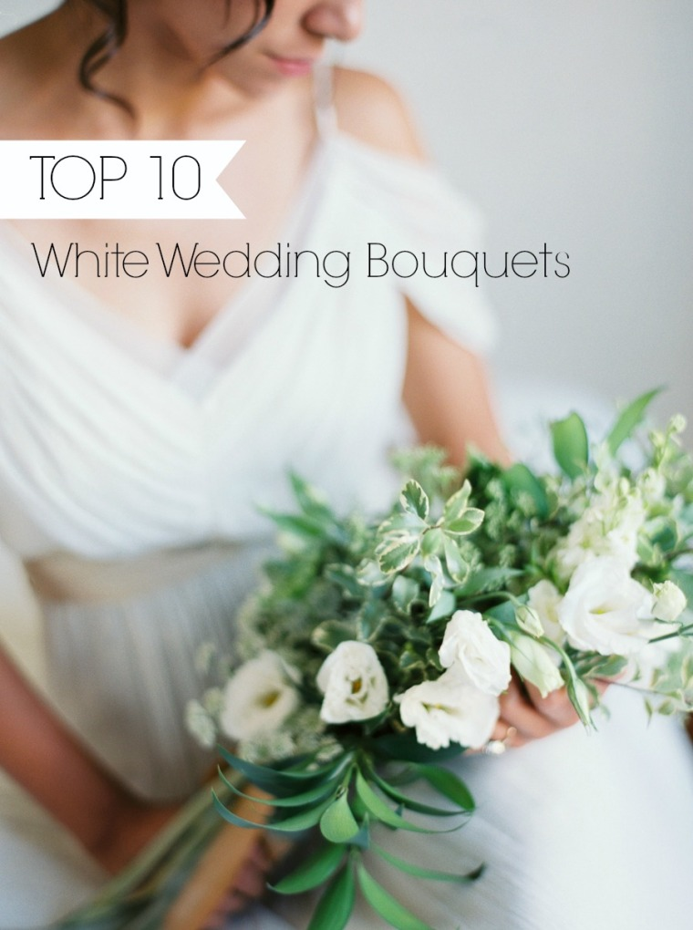 Top 10 White Wedding Bouquets Photography By Kate Ignatowski