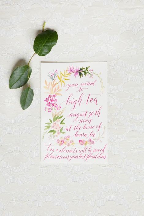 Fleur de Letters Calligraphy Fiona Melder Photography