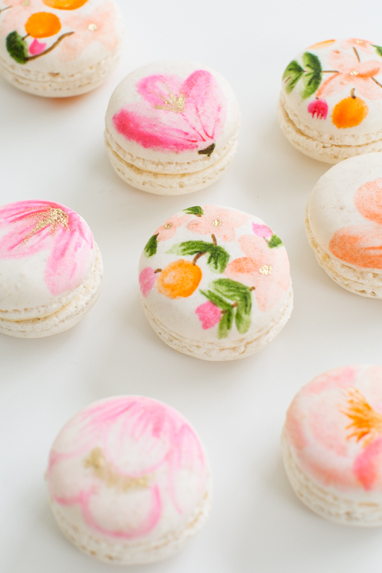 Sugar and Cloth Floral Macarons Photo by Jared Smith