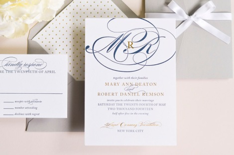 Sincerely, Jackie  NYC Wedding Invitations