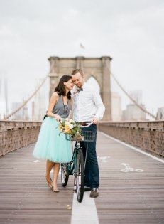vintage bicycle rental nyc - tulle and grace photography